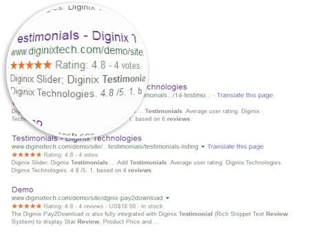 Google Reach Snippet Review extension for Joomla rating